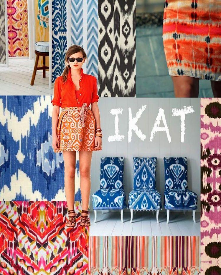 Ikat Muster   Ethno Flair In Der Mode Und Im Interior