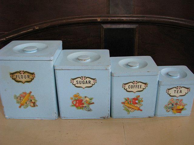 Vintage canister set | Flickr - Maison Douce