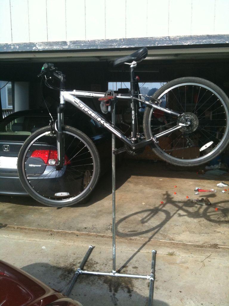 Diy bicycle repair stand with images bike repair stand