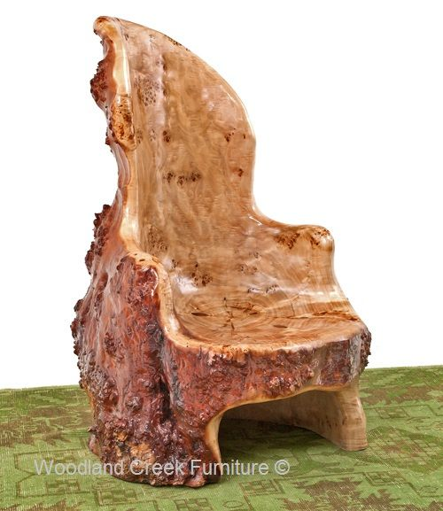 Delightful Tree Stump Chairs By Woodland Creek Furniture
