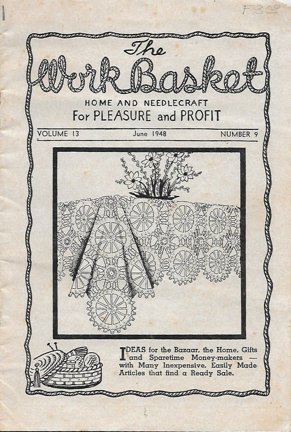 The work basket june 1948 home and needlecraft crochet booklet the work basket june 1948 home and needlecraft crochet booklet bankloansurffo Choice Image