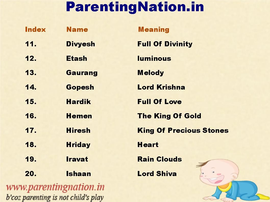 New Name: Pin The Right Hindu Boy Baby Names For Your New Born Baby