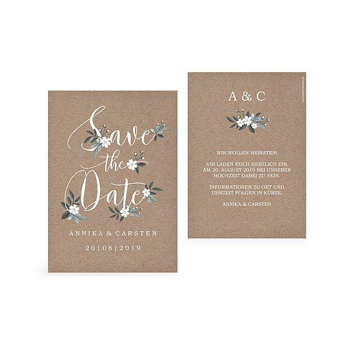 "Save-the-Date Karte ""Rustic Flowers"""