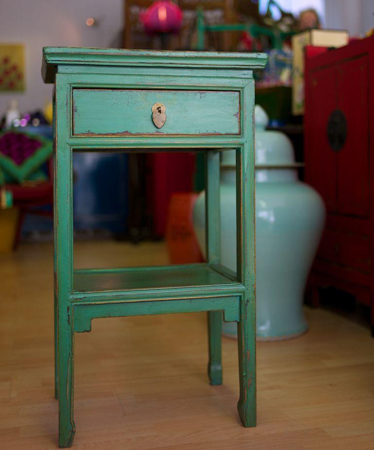Oriental Bedside Table Google Search Green Bedside Table