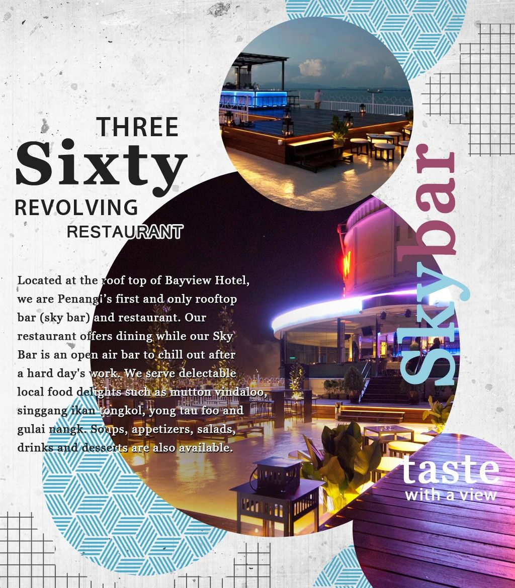 Three Sixty Revolving Restaurant Is Penangs First And Only Rooftop Bar Sky