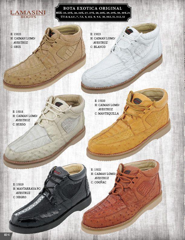eb11fcad4c188 15021 Zapato Exotico Original Lamasini Caiman Lomo Avestruz