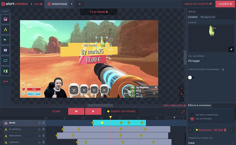 Scene Creator with alerts and overlays for your stream with