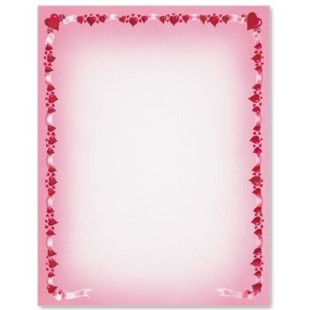Heart Border Letter Paper Idea Art Valentineu0027s Day Ideas - paper border designs templates