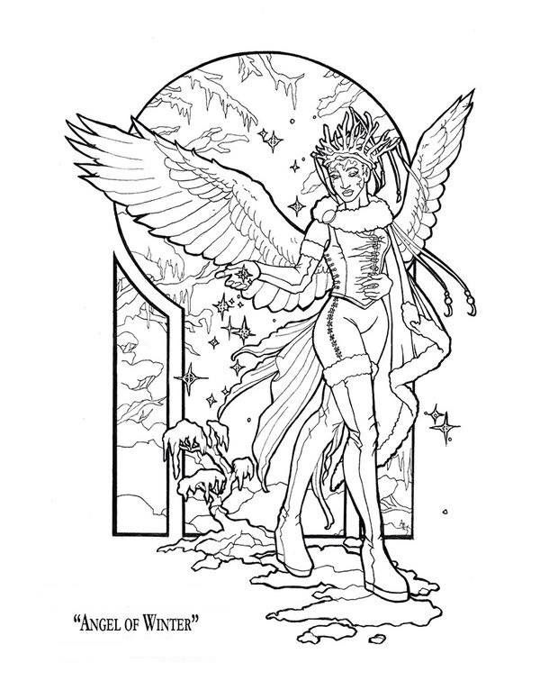 Winter Angel Fairy Coloring Pages Angel Coloring Pages Fairy Coloring