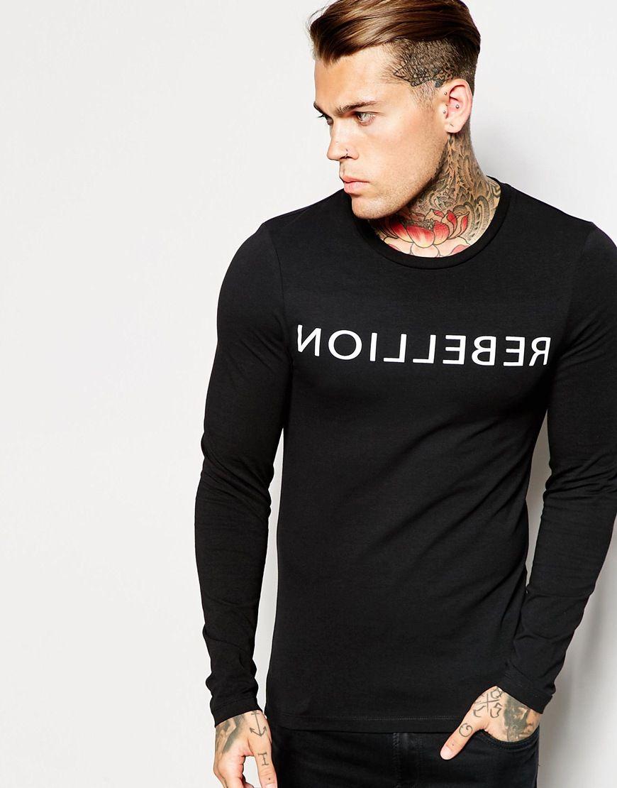 Muskelshirt T-Shirt von ASOS sehr elastischer Jerseystoff ...
