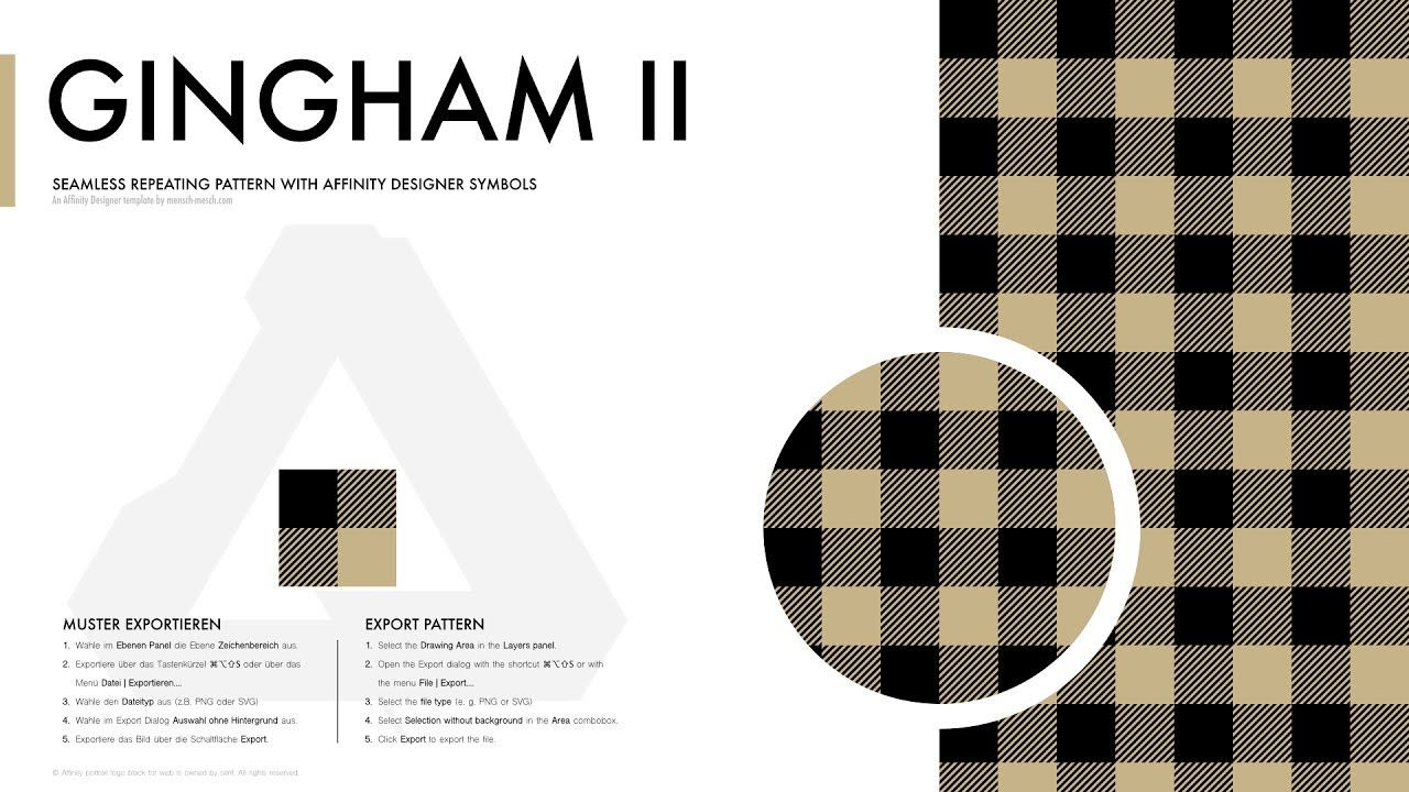 Affinity Designer Pattern Gingham Ii Muster Mesched