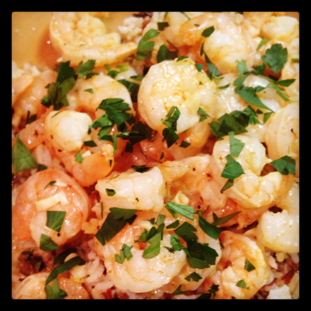 Remember that frozen bag of shrimp I said that you should always have on hand? Here's another great recipe for it! Think healthy shrimp scampi… Weight Watchers inspired, this dish is very low cal and...