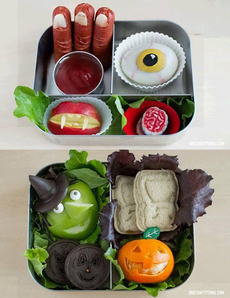 Creative Kids School Lunch Bento - Halloween theme Bento - how to make halloween decorations for kids