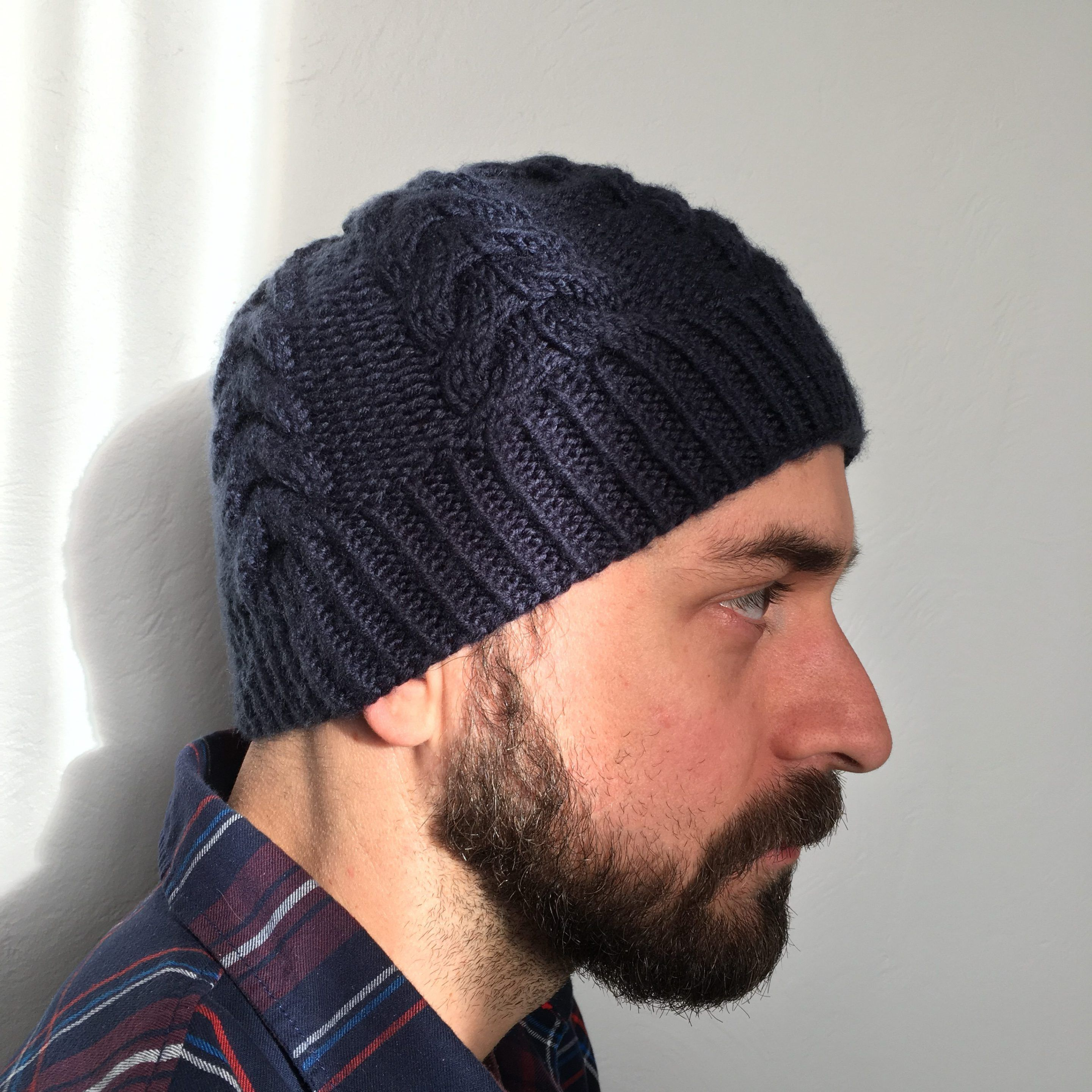 be299f8eb9a Free Chevron Men s Knit Hat Pattern from Knitting in the Park