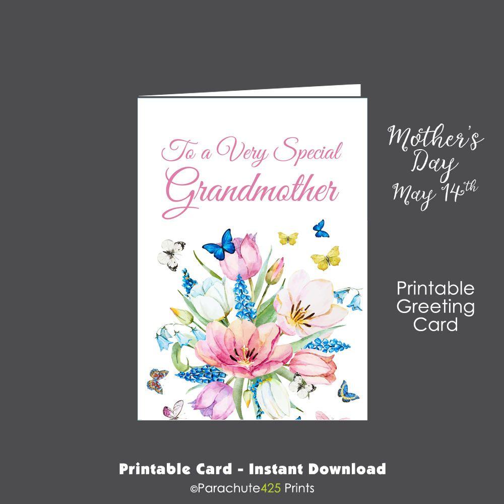 grandmother card, printable card, grandma mothers day, grandma