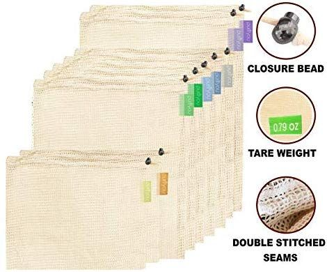 purifyou Premium Reusable Mesh/Produce Bags