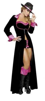 Sexy Women's Magnificent Pimp Gangster Gangsta Mafia Outfit Halloween Costume | eBay