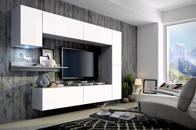 FUTURE 6 Moderne Wohnwand, Exklusive Mediamöbel, TV Schrank, Neue Garnitur,  Große