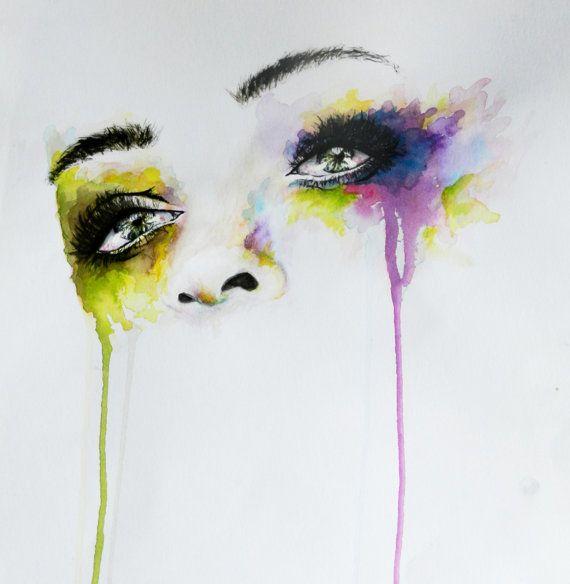 Mooie+waterverf+illustratie+Art+Print+20x30cm+van+IRSart+op+Etsy,+€15.85