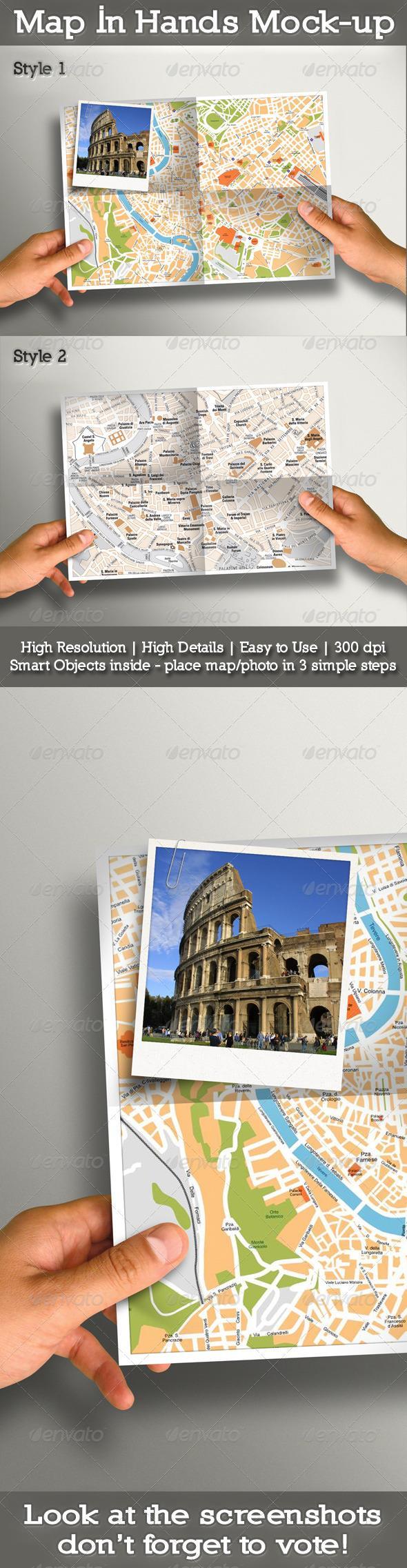 Map In Hands Mock Up I N Hands Mockup Photoshop Textures