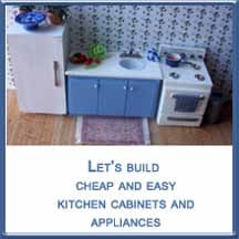 How To Build Inexpensive Miniature Kitchen Cabinets Doll House