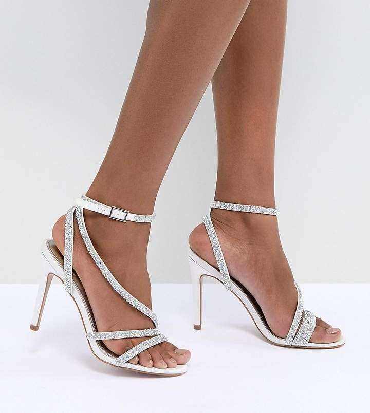 DESIGN Hypnotic Bridal Embellished Heeled Sandals - Ivory Asos w9yHgYnI