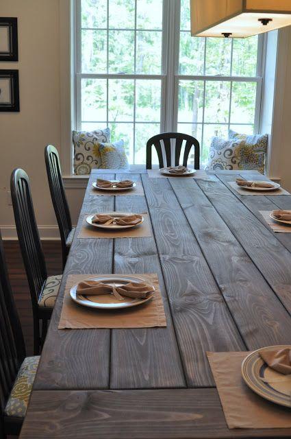 5 diy farmhouse table projects diy farmhouse table east for Creative dining room table ideas