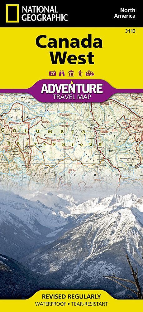 Canada, West Adventure Map 3113 by National Geographic Maps