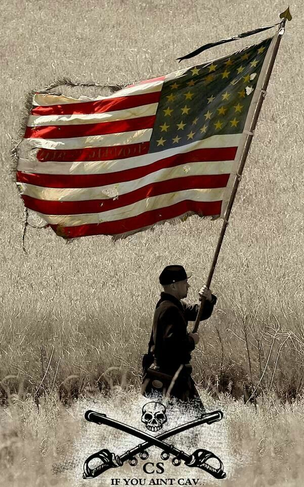 American Flag Being Carried During A Civil War Battle One Of Many It Looks Like Old Glory America Photo