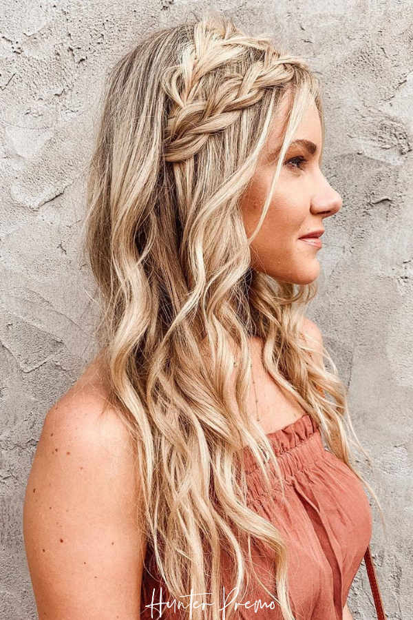 Boho Hairstyle For Long Hair With Braids Hunter Premo Hair Inspiration Hunterpremo Boho Hairstyles For Long Hair Long Hair Styles Cute Everyday Hairstyles