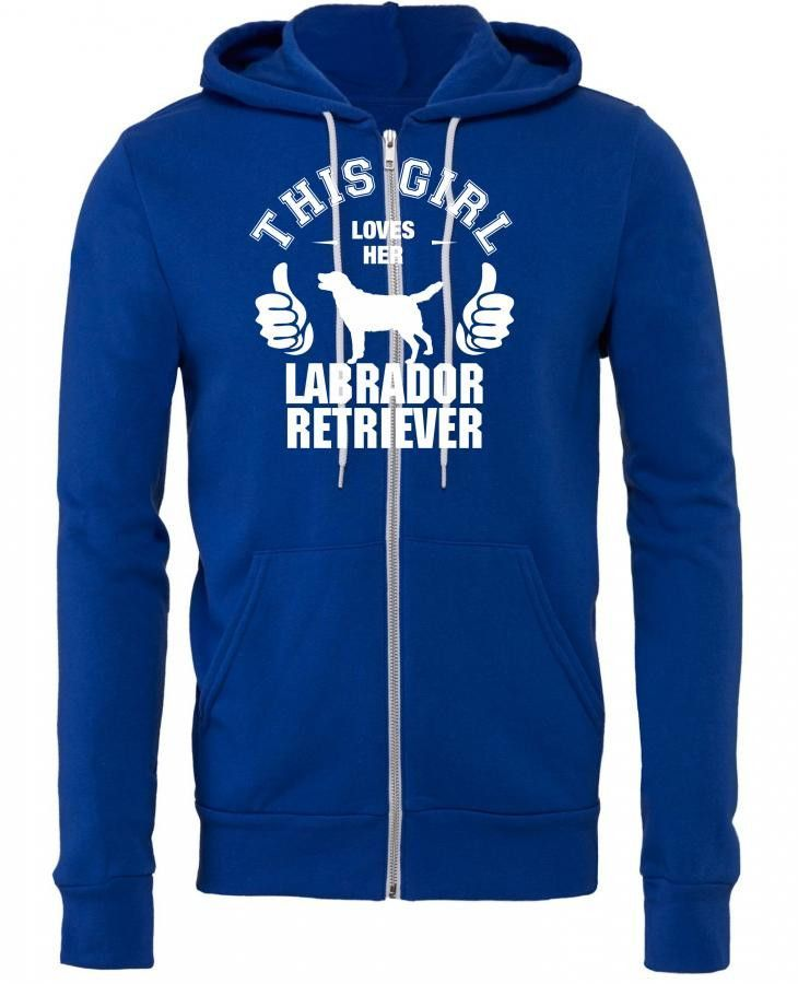 this girl loves her labrador retriever t shirt design 1 Zipper Hoodie