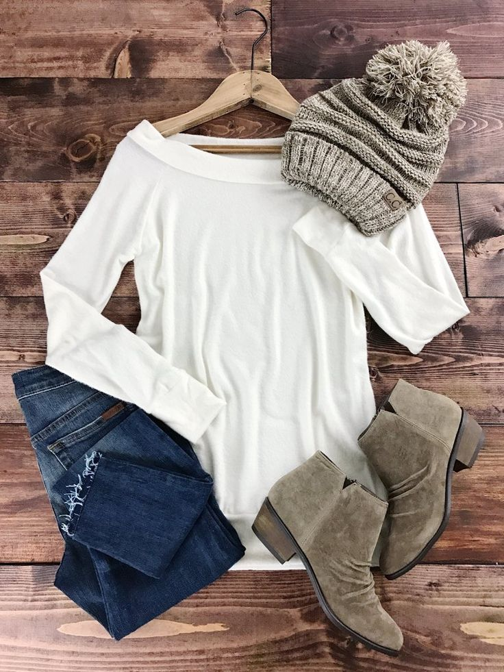 http://therollinj.com Winter whites. Sweater weather. Holiday style. Ultra Soft Essential Sweater. A very lightweight, soft and fuzzy, off the shoulder sweater. Featuring a loose all over fit with a wide waistband. Seriously the softest thing you'll every feel!