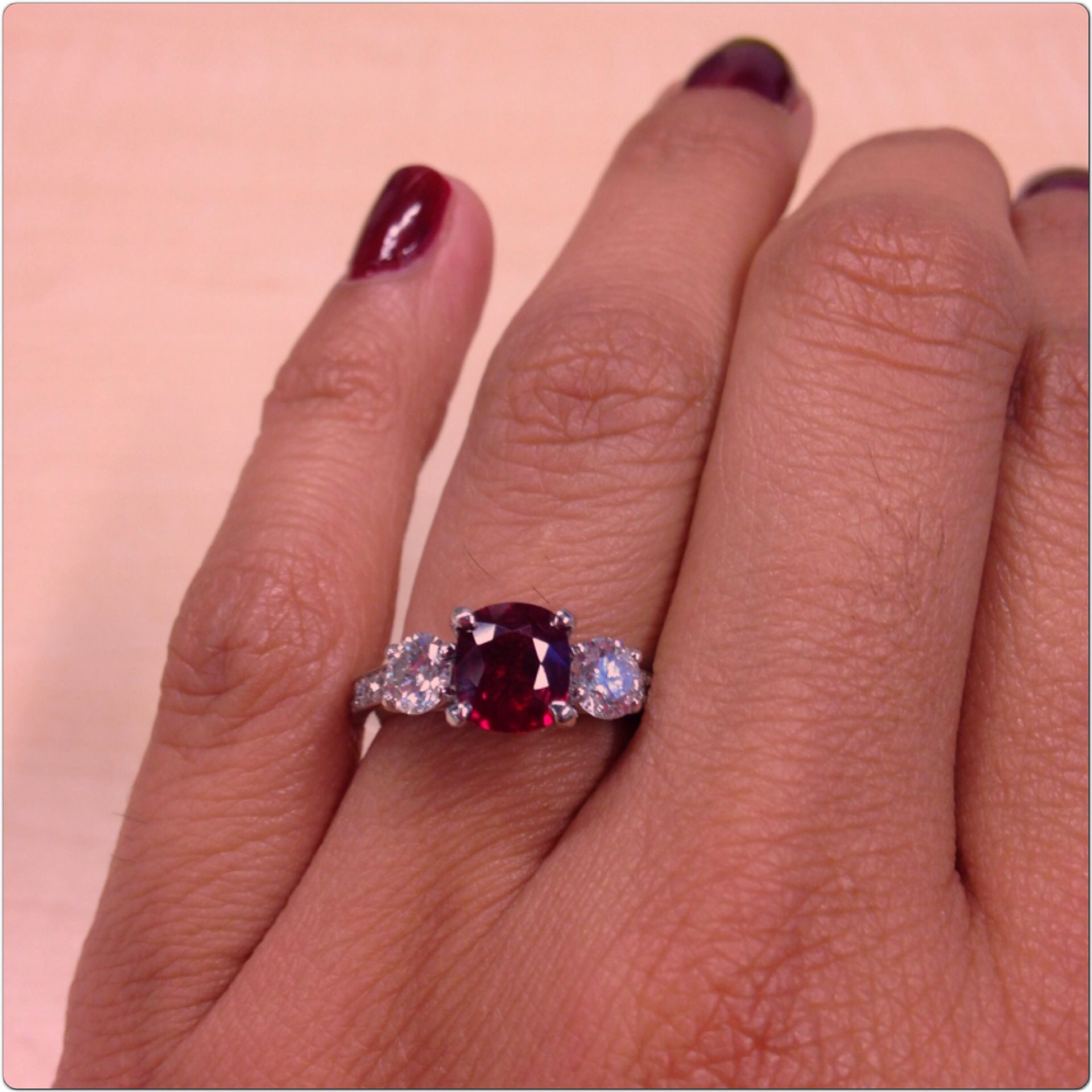 My ruby engagement ring! | Sparkles | Pinterest | Engagement, Ring ...