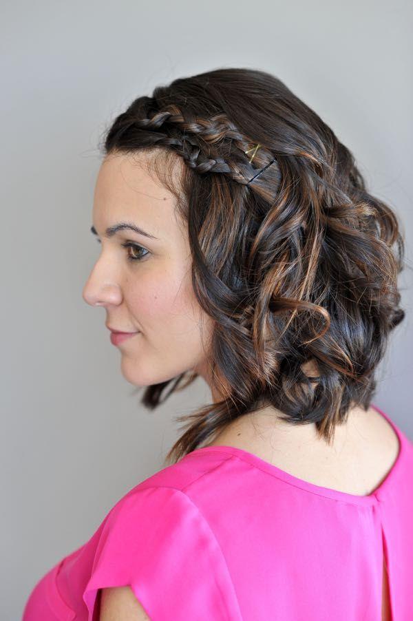 einfache kurze haare zöpfe | geflochtene frisuren für