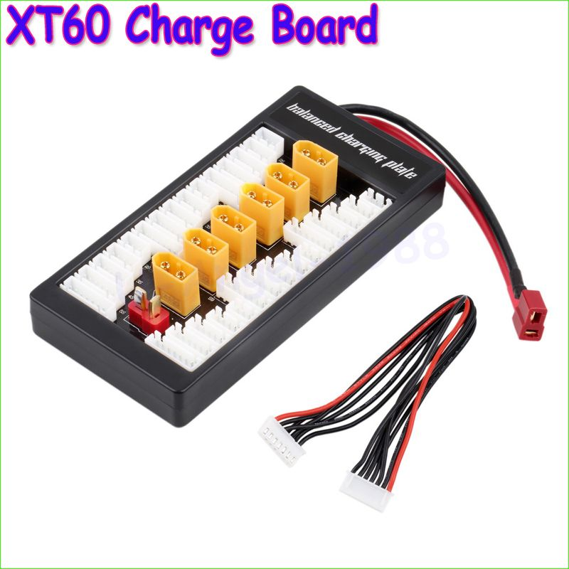 2-6S LiPo Battery Parallel Charging Adapter Board T Plug Balance Plate Tool