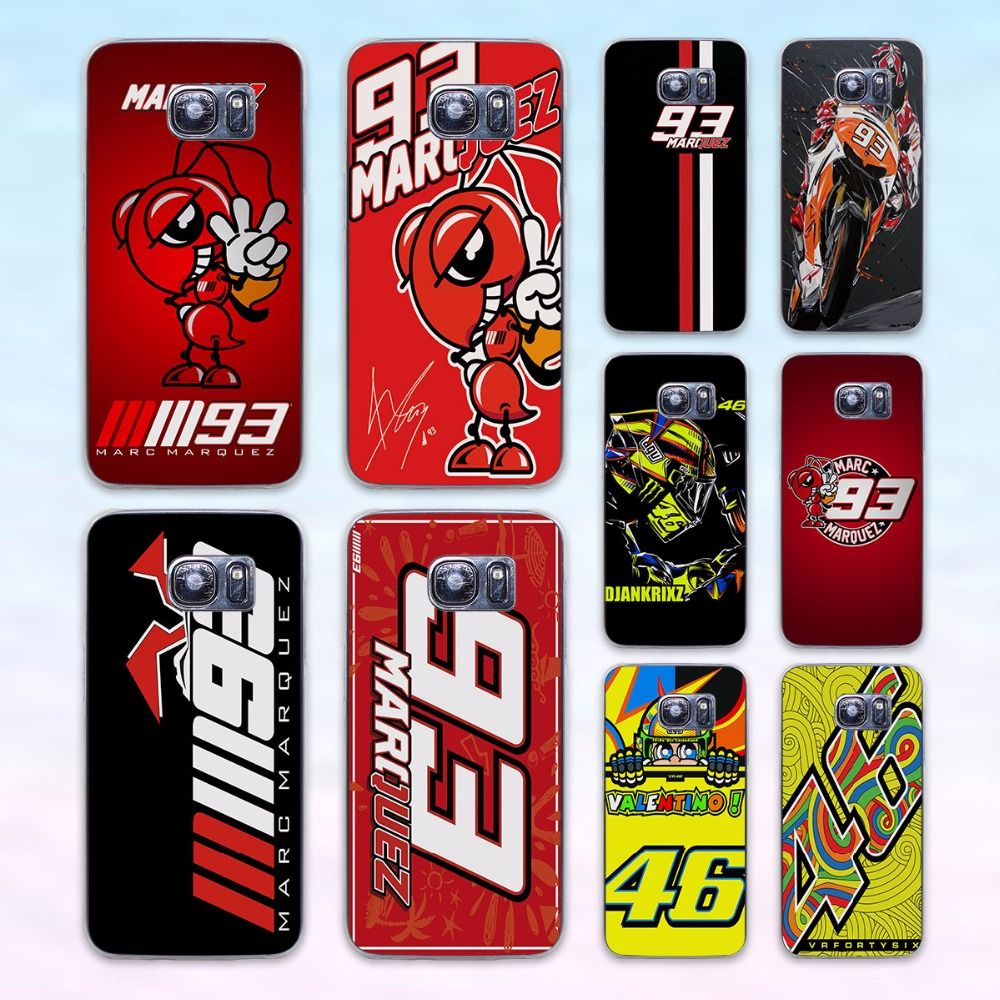 Coque Marc Marquez 93 valentino rossi vr46 transparent clear hard case cover for Samsung Galaxy s6 s7 edge s4 s5 mini note 4 not