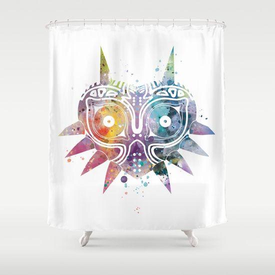 Majoras Mask Shower Curtain By Monnprint Majoramask Zelda Mask