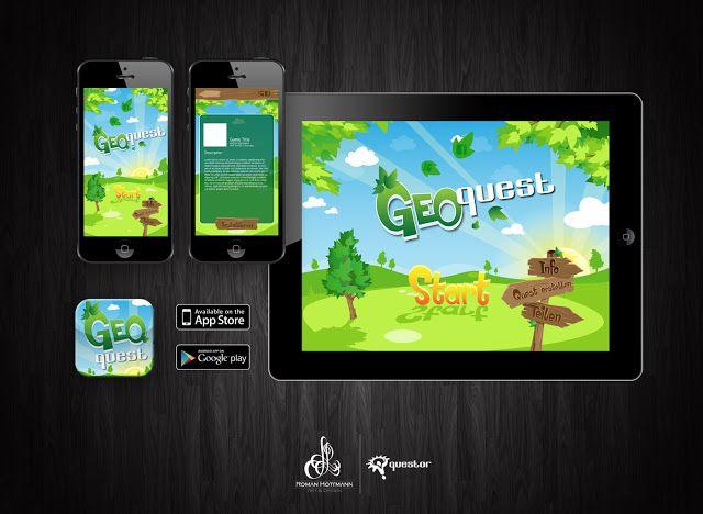 GeoQuest Game Graphic Design by Roman Hottmann