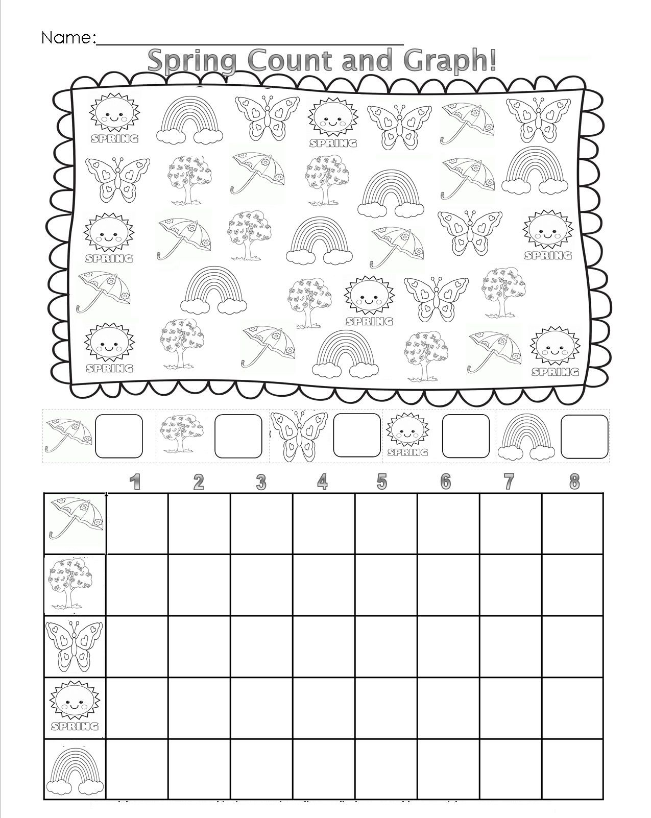 Spring Count Graph Worksheet Crafts And Worksheets For Preschool
