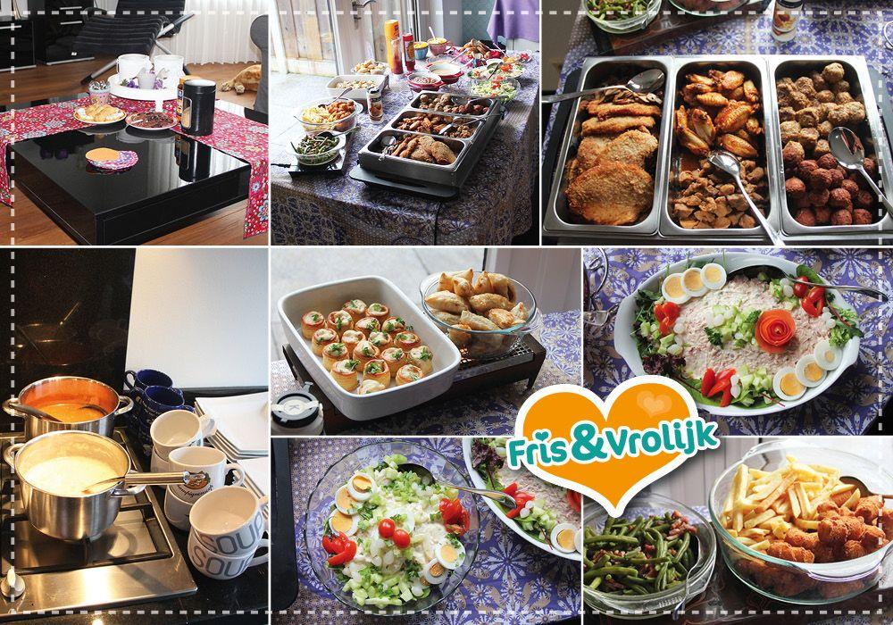 Spiksplinternieuw Kerst buffet zelf maken   Kerst buffet, Diner buffet, Buffet PI-57