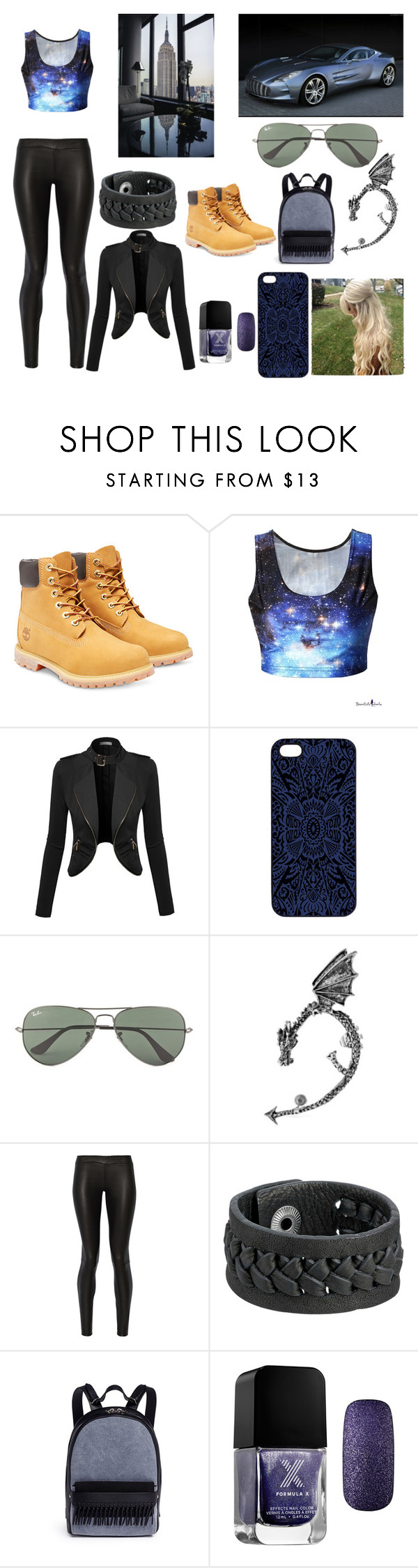 """Untitled #22"" by vanessa241201 ❤ liked on Polyvore featuring Timberland, Samantha Warren London, Ray-Ban, Bling Jewelry, The Row, Frye, 3.1 Phillip Lim, Formula X, women's clothing and women"