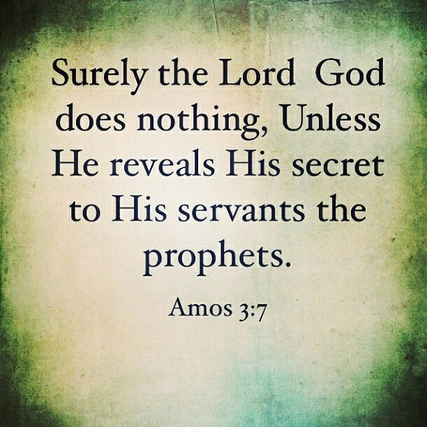 Amos 3:7 (With images) | Daily scripture