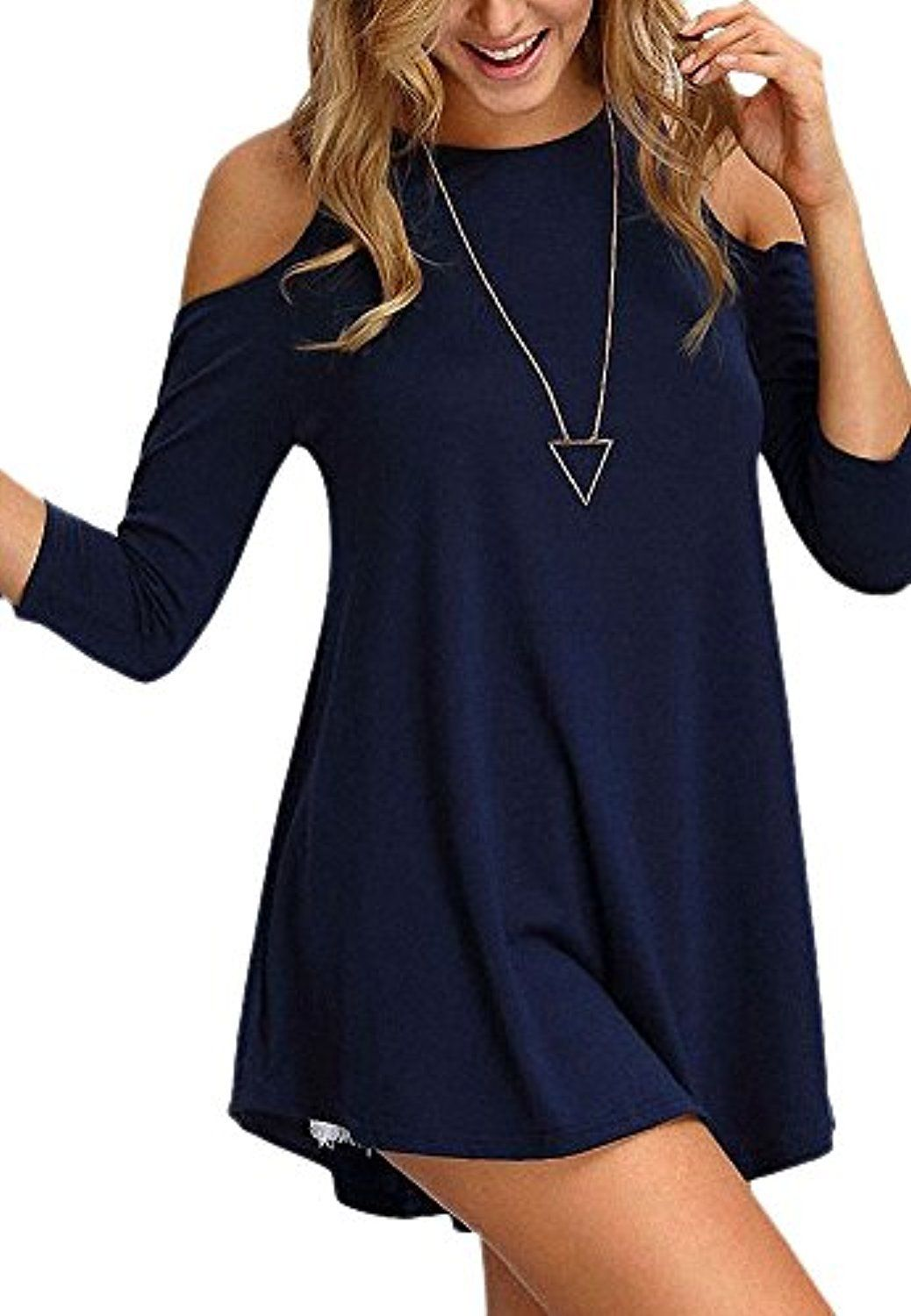 3a89bc6f7cea06 Folio Basics Collection Cold Shoulder Half Sleeve Swing Tunic ...