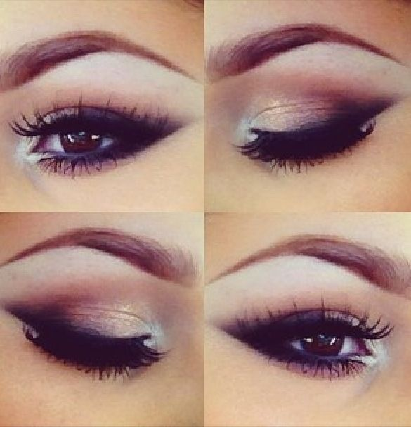 Isn't this makeup beautiful? It's not too dramatic, its elegant, natural, and very modest. This is the makeup style that I would like both Alice and the Guardian Angel to wear. This smokey eye style makes the eyes look wider and adds definition to them. It is my intention to keep both these women as modest as possible and I think this makeup is just the thing for that.
