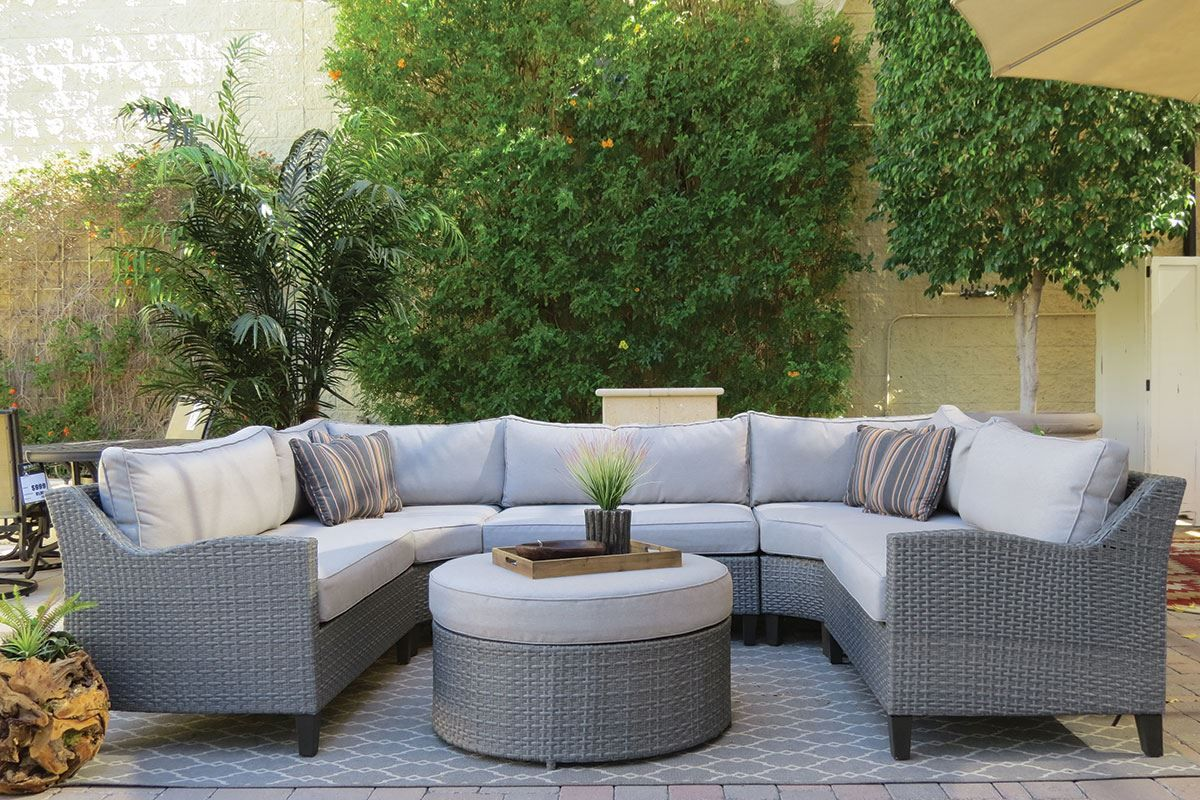 Oahu Outdoor Sectional Sofa With Ottoman Outdoor Sofa Types Of Sofas