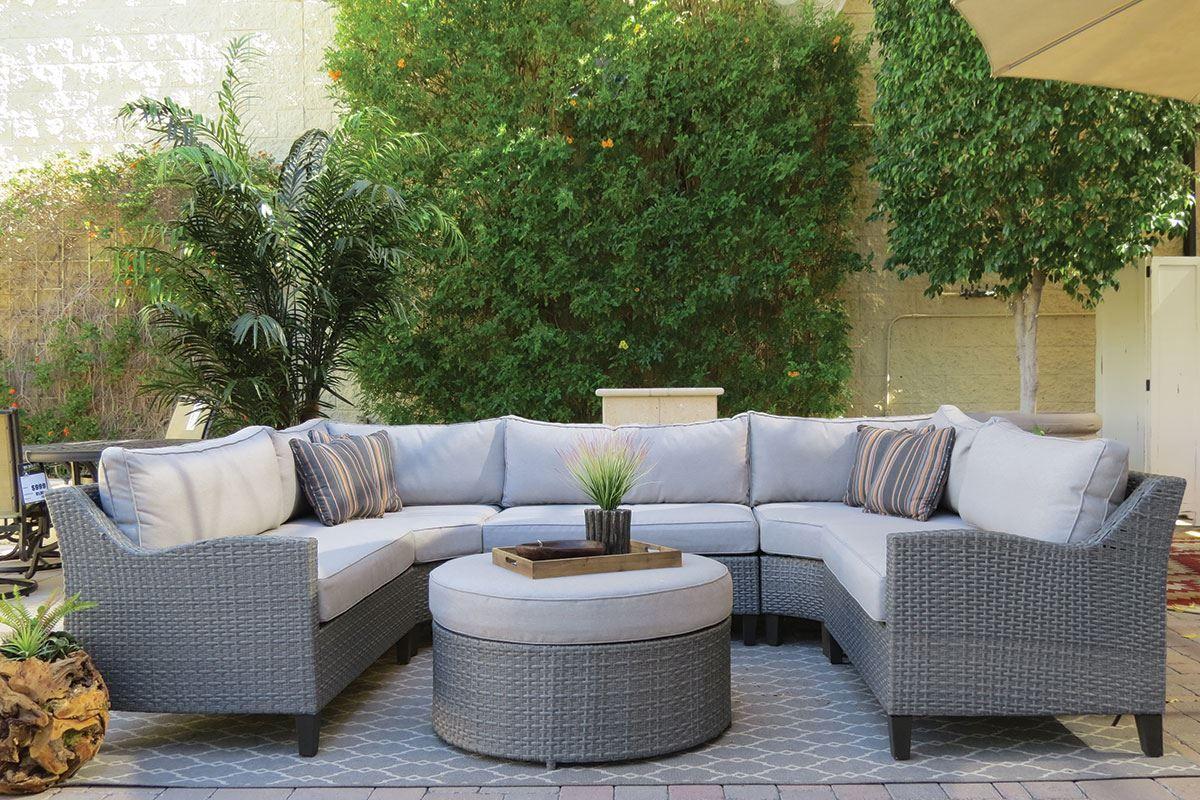 Marvelous Oahu Outdoor Sectional Sofa With Ottoman Backyard Machost Co Dining Chair Design Ideas Machostcouk