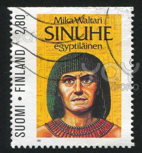 Finnish stamp Mika Waltari Sinuhe Egyptian