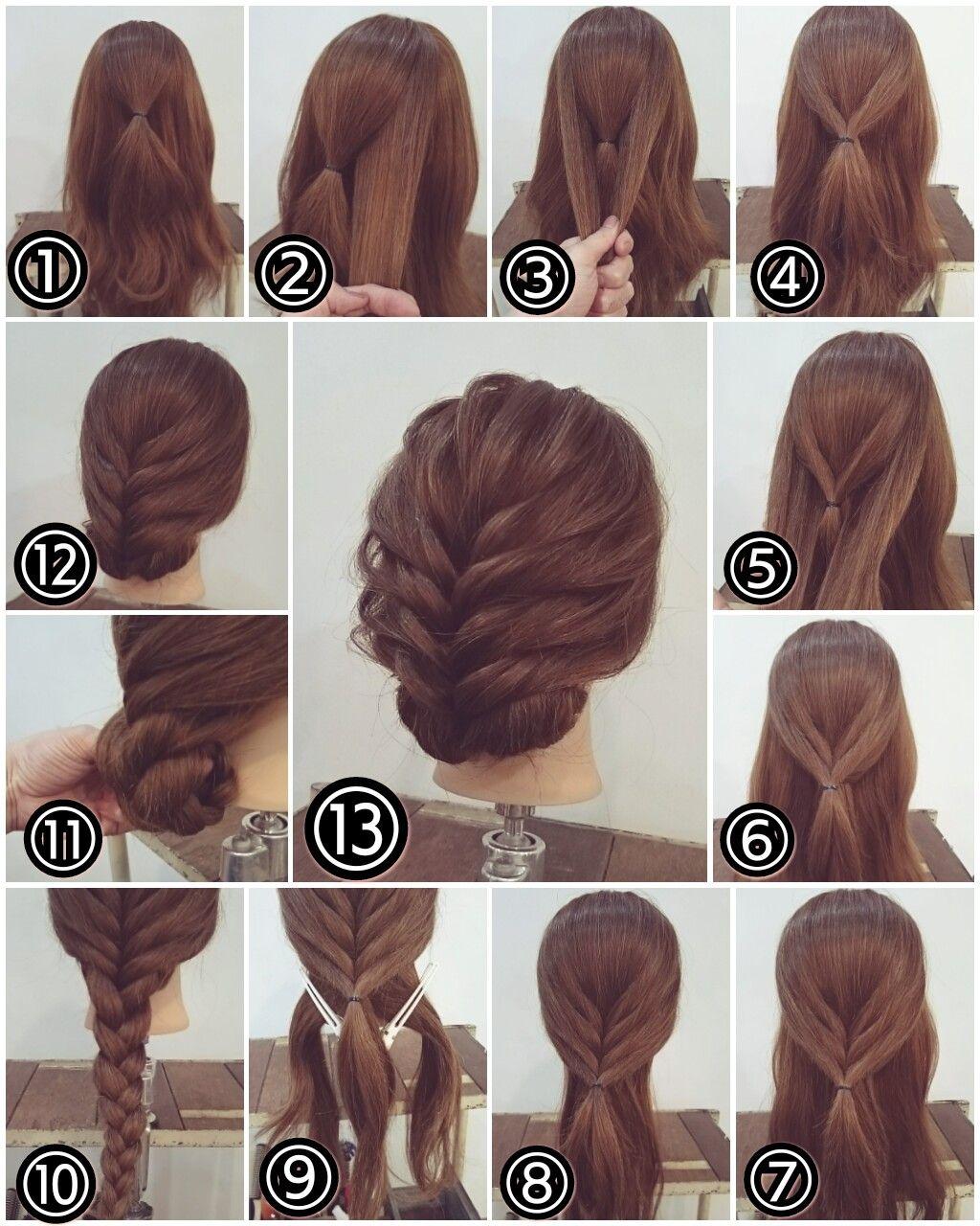 Zopf hochsteckfrisur lange haare hair pinterest updo hair
