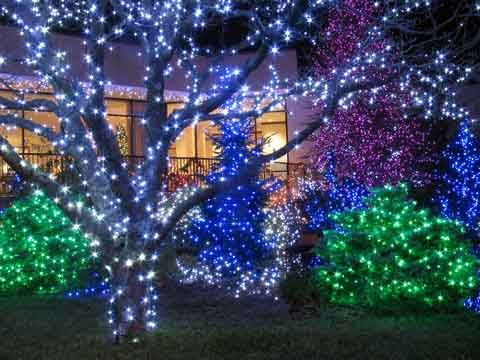 green christmas lights exterior lighting ideas