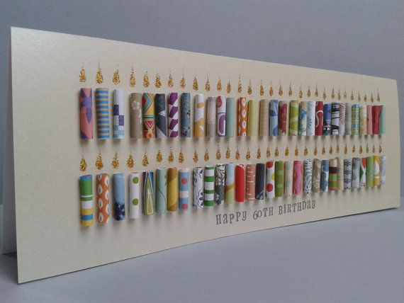 Large 60th Happy Birthday Candle Card Personalised Can be – Large Birthday Cards Personalised
